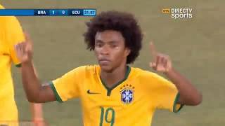 Brazil vs Ecuador 1-0 2014 Willian Amazing Team Goal – Amistoso Internacional ( HD )