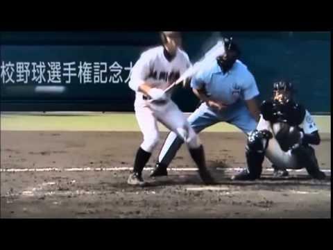 【珍しい】反則打法で本人もびっくりアウト!甲子園高校野球大会。