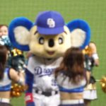 "ドアラのバク転カッコよすぎ♪Japanese baseball popular mascot""Doala""acrobatics"