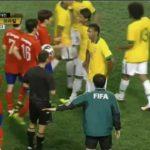 ネイマールが韓国のラフプレーにガチ怒り!そして倍返しのゴール! Neymar got angry for foul and fk goal south korea 0-2 brazil