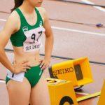 女子100m(準決勝) スタート前ピストル暴発でビックリ!