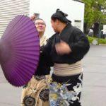 ああっ大銀杏がっっ...台風18号ハプニング2番!(平成25年9月場所2日目 Day 2 Sumo Aki Basho September 2013)