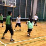 徳島のスポーツサークル 、バスケ(初級者)試合の様子