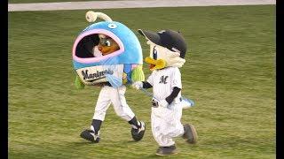 【球場大爆笑】 謎の魚 身体に骨が居ない隙にBBが寄生するwwwwwwwwww北海道日本ハムファイターズ 後半にも突っ込みどころwww mysterious fish mascot 腹筋崩壊