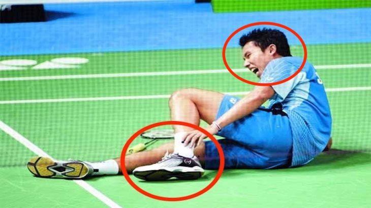 【バドミントン】  悲痛の表情!! 選手を突如として襲う 痛々しいアクシデント・・・【badminton】